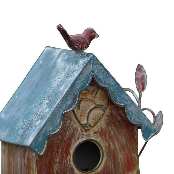 Rustic Freestanding Birdhouses Partial details 3