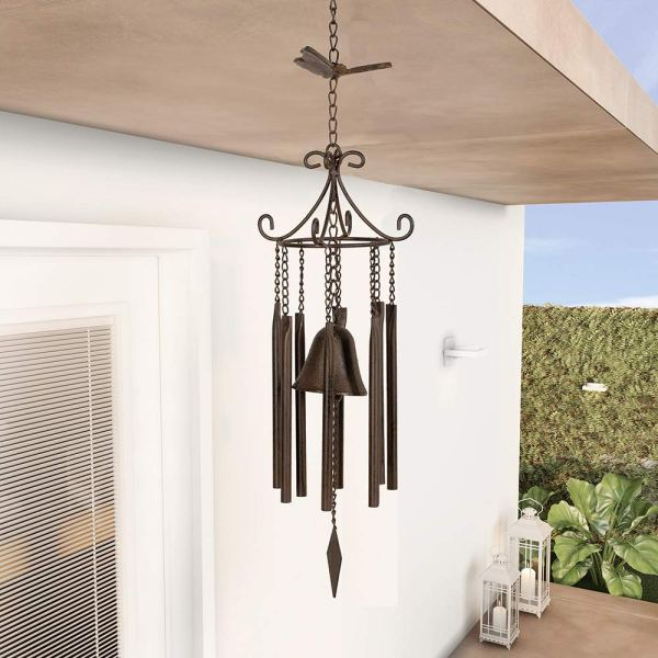 Large Vintage Metal Butterfly Wind Chimes Real shot 1