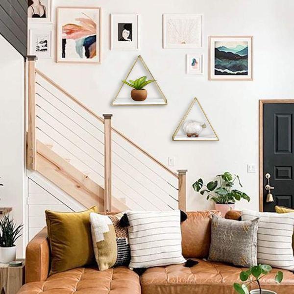 Triangular Wall Shelf Real shot