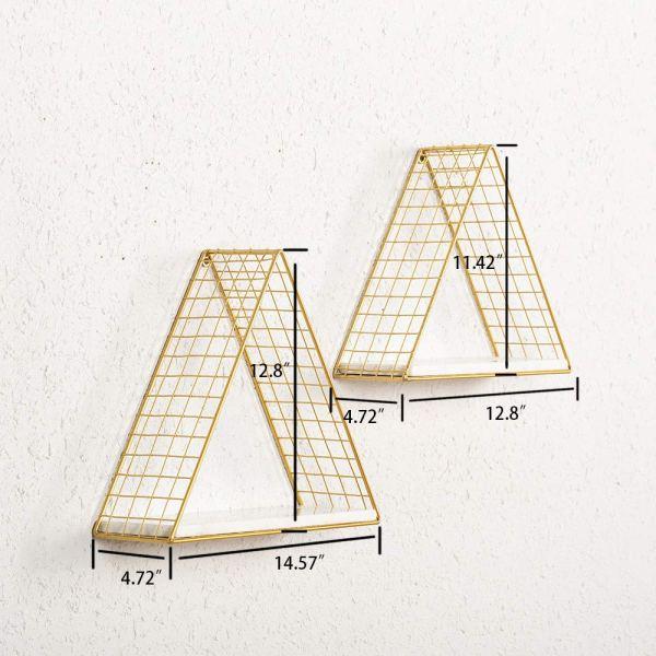 Triangular Wall Shelf Dimensional Drawings