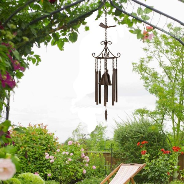 Large Vintage Metal Butterfly Wind Chimes Real shot 2