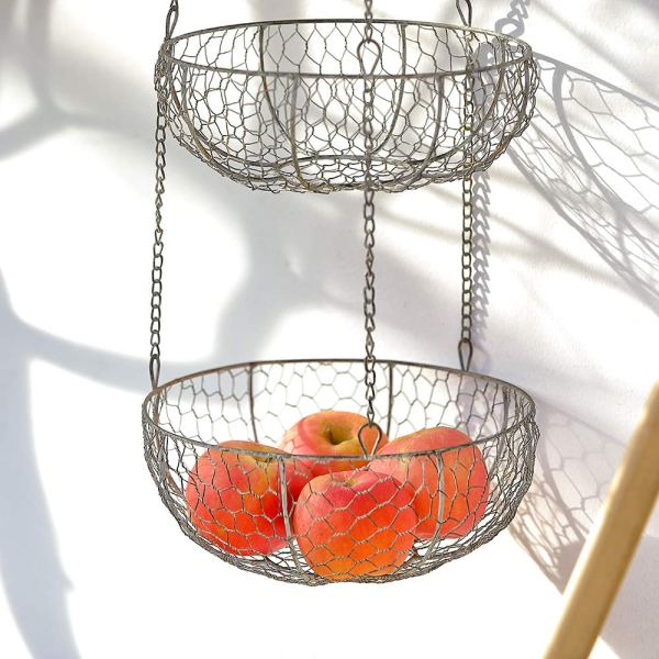 Home Tiered Hanging Fruit Baskets Real shot