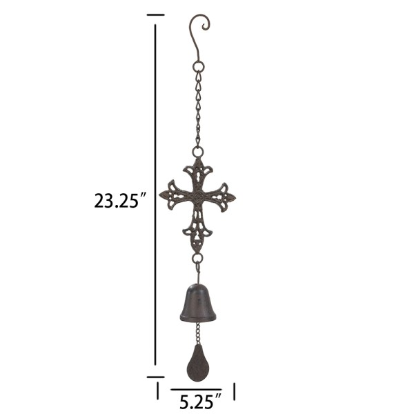 Outdoor Cross Wind Chimes Dimensional Drawings
