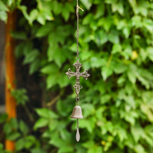Outdoor Cross Wind Chimes Real shot 2