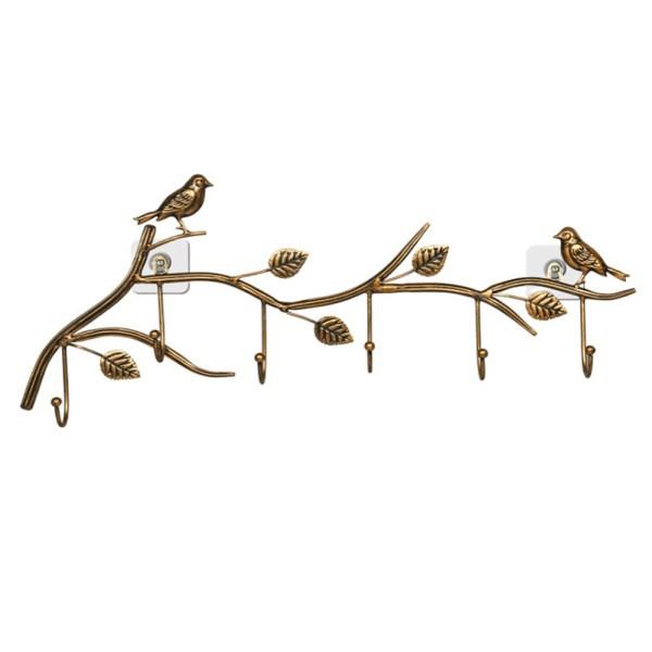 gold birds wall hooks