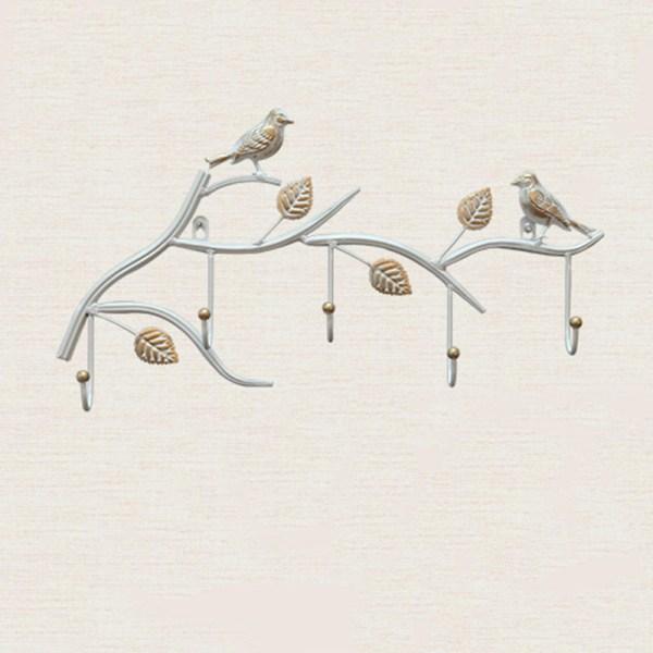 white birds wall hooks