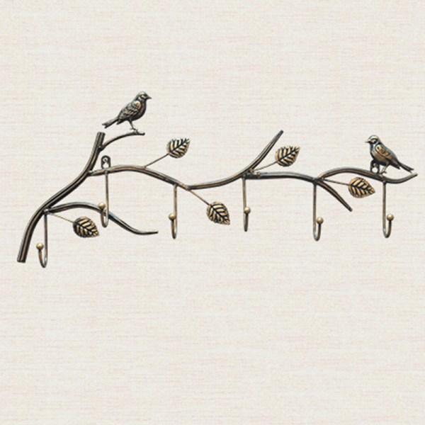 birds wall hooks with 6hook