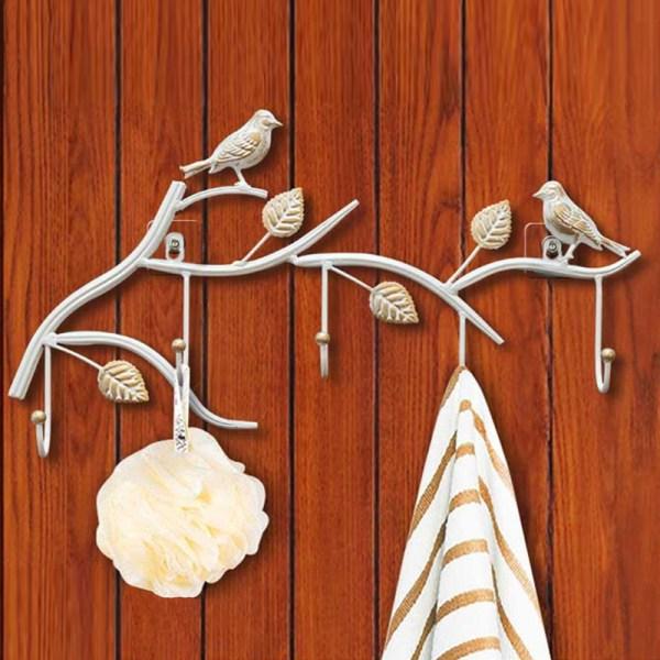 white birds wall hooks Real shot