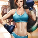 futanari-boxer-in-boxing-gym-heavy-bag