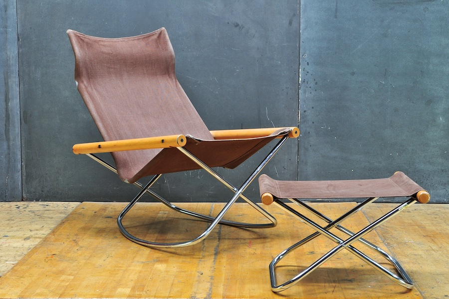folding z chair glider rocking target suekichi uchida japan modern50 a non linear design