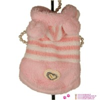 Pink Plush Coat for Small Dog (chihuahua, poodle) shipping