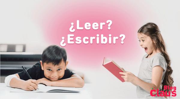 que prefieren los niños ¿leer o escribir?