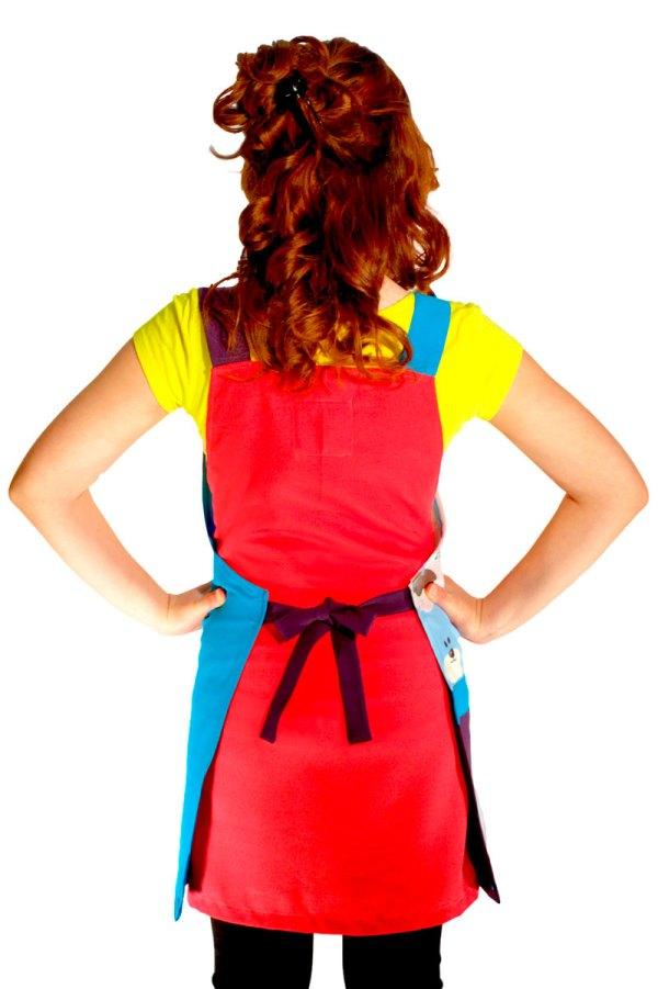 Mandil para educadora de moda claus
