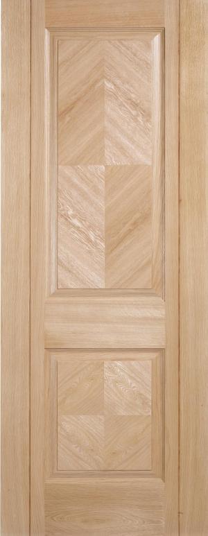 LPD Internal Oak Madrid 2 Panel Pre-Finished Fire Door