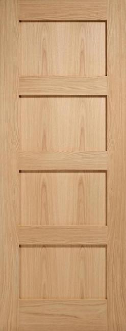 Mendes Internal Oak Contemporary 4 Panel Door