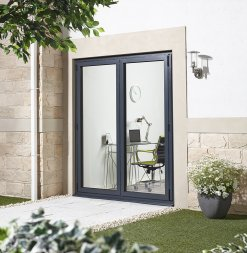 LPD External 1.8m ALUVU (6ft) Aluminium Bi-Fold Door Set in a Grey Finish (Right Hand Opening)