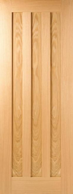 LPD Internal Oak Idaho 3 Panel Fire Door