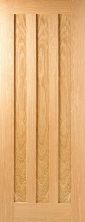 LPD Internal Oak Idaho 3 Panel Pre-Finished Fire Door
