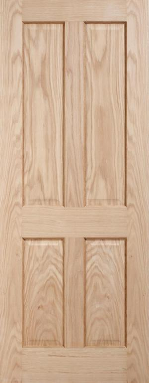 LPD Internal Oak Regency 4 Panel Door