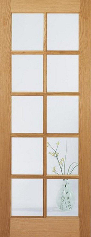 LPD Internal Oak SA 10 Light with Clear Glass Door