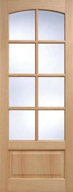 LPD Internal Oak Worthing 8 Light Bevelled Glass Door