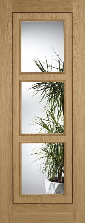 LPD Internal Oak Inlay 3 Light Glazed Door