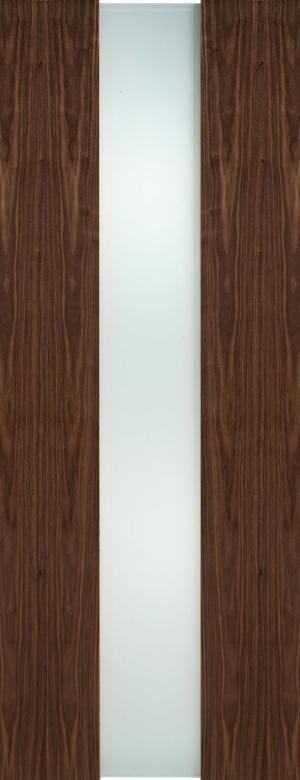 LPD Internal Walnut Zaragoza Full Frosted Glass Door