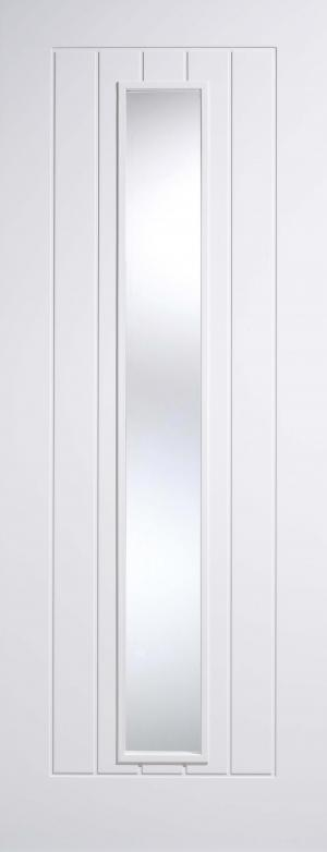 LPD Internal Mexicano Glazed White Primed Door