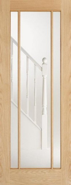 LPD Internal Oak Lincoln 3 Panel Glazed Door