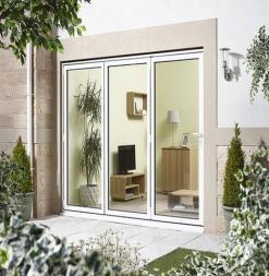 LPD External 3.0m ALUVU (10ft) Aluminium Bi-Fold Door Set in a White Finish (Right Hand Opening)