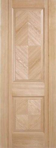 LPD Internal Oak Madrid 2 Panel Pre-Finished Door