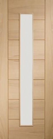 XL Joinery Internal Oak Palermo 1 Light with Clear Glass Door