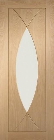 XL Joinery Internal Oak Pesaro with Clear Glass Door
