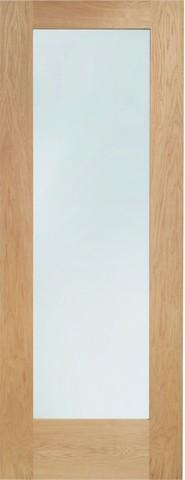 XL Joinery Internal Oak Pattern 10 with Obscure Glass Door