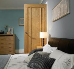LPD Internal Oak Lincoln 3 Panel Fire Door