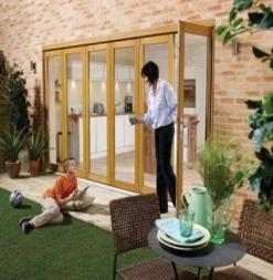 LPD External 1.8m NUVU (6ft) Oak Pre-Finished Bi-Fold Doors with a 3+0 Configuration