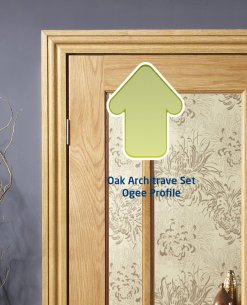 XL Joinery Internal Oak Door Pair Architrave Set In a Classic 'Ogee' Profile Pack