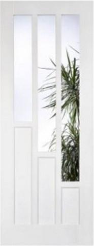 LPD Internal White Primed Coventry Glazed Door