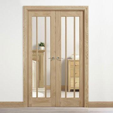 LPD Internal Oak Lincoln Glazed Room Divider
