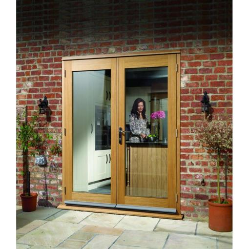 XL Joinery External Pre-Finished Oak La Porte French Door Set