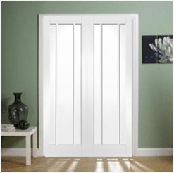 XL Joinery Internal White Primed Worcester Clear Glass Door Pair