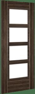 Deanta Doors Internal Calgary Clear Glazed Abachi Wood Door
