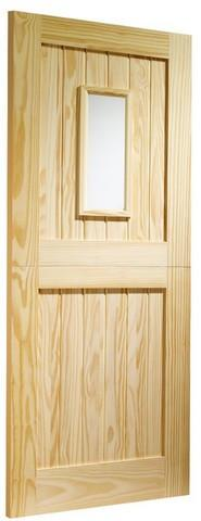 XL Joinery External Clear Pine Dowelled Stable 1 Light with Clear Glass Door