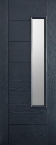 LPD External GRP Grey Newbury Glazed Door