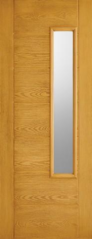 LPD External GRP Oak Newbury Glazed Door