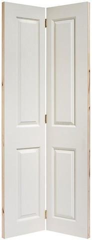 LPD Internal Bi-Fold Textured 4 Panel White Square Top Door