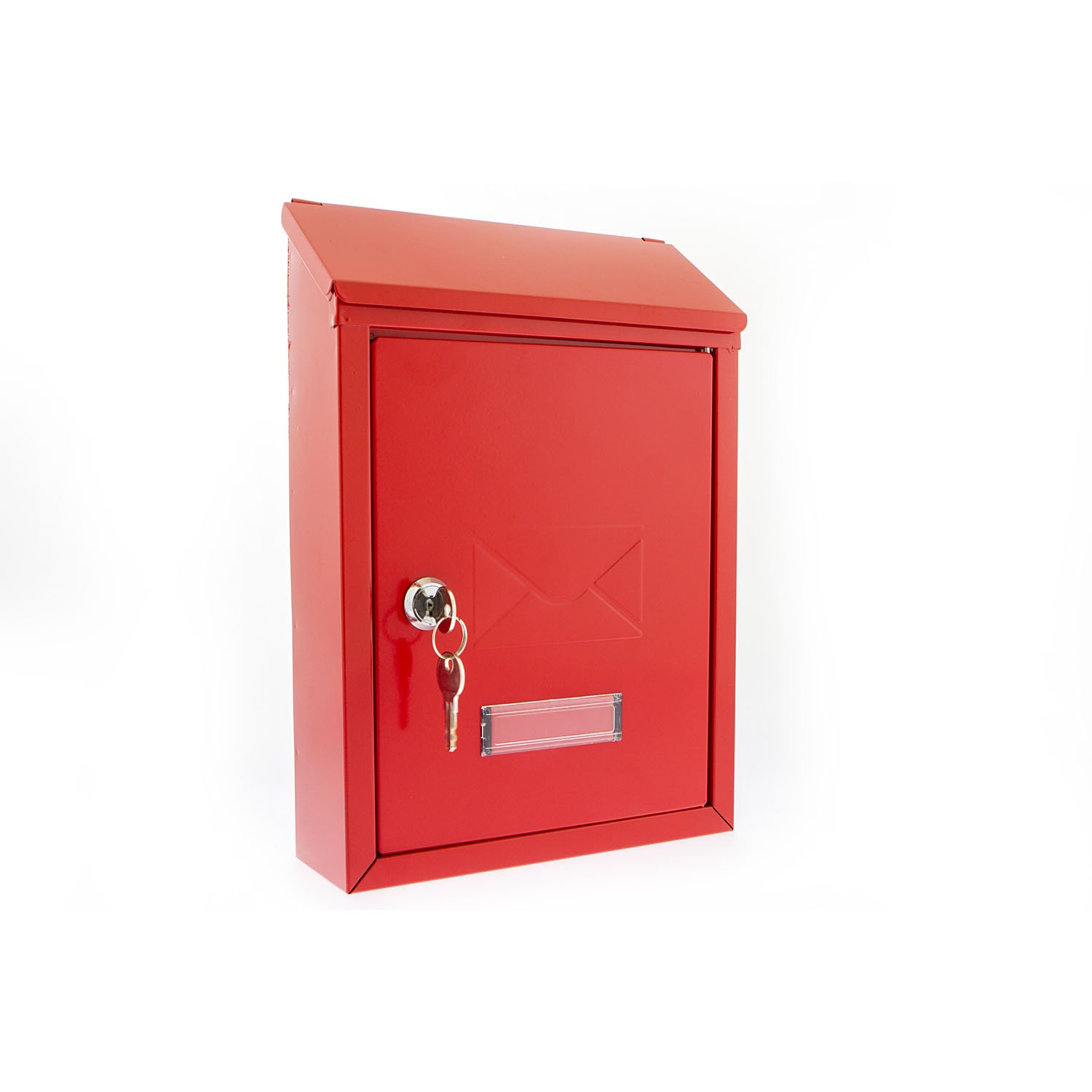 G2 Trent Red Metal Steel Post Mail Letter Box Postbox Mailbox