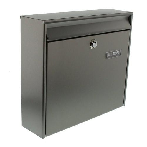 Burg-Wachter Borkum 3877 Ni pre-drilled Post Box in Stainless Steel