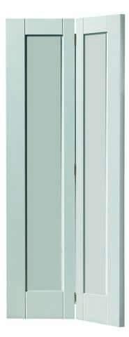 JB Kind Internal White Antigua Bi-Fold Door