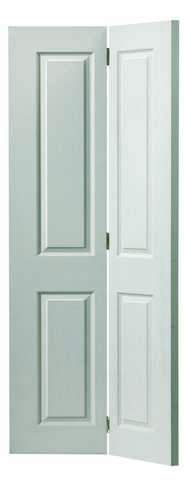 JB Kind Internal White Canterbury Grained Bi-Fold Door